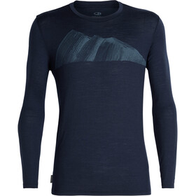 Icebreaker Tech Lite Remarkables LS Crewe Shirt Men midnight navy